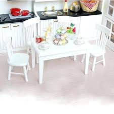 cheap dollhouse furniture. Barbie Doll House Furniture 1 Wooden Kitchen Dining Table Chair Set Dollhouse White . Cheap