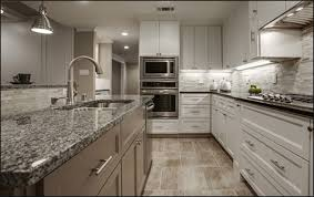 kitchen countertops granite with a flat polished edge