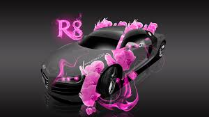 audi r8 fantasy flowers fire car