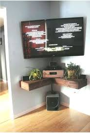 corner wall mounted tv unit