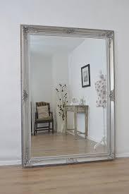 large antique silver mosaic wood frame wall mirror 160x75cm originalviews