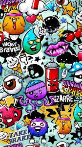 Cartoon Graffiti Wallpaper In 2019 Graffiti Wallpaper Graffiti