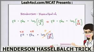 Henderson Hasselbalch Henderson Hasselbalch Mcat Trick For Buffer Ph Without A
