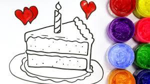 birthday cake slice drawing. Interesting Drawing Coloringbook Coloringpages On Birthday Cake Slice Drawing I