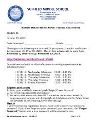 parent teacher conference letters 21 printable parent teacher conference letter forms and templates