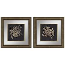 gold coral ii 2 piece 23 square framed wall art set on 2 piece framed wall art with gold coral ii 2 piece 23 square framed wall art set 19y06