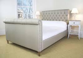 upholstered sleigh bed diy