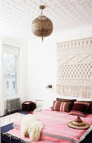 brooklyn home of author julia chapman featuring one kings lane rug as wall tapestry