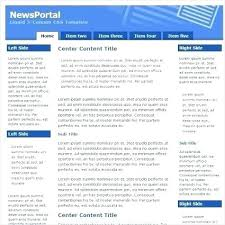 Newspaper Web Template Free News Portal Template Simple Website Templates Free Download