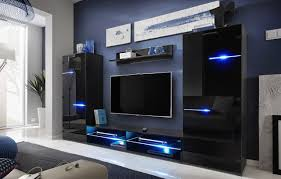 meble furniture u0026 rugs modern entertainment center wall unit with led lights 70 inch tv stand high gloss black entertainment center wall unit e11