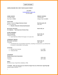 Student Resume Formats Free For Download 7 Sample Student Resume For