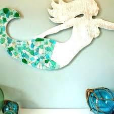 metal mermaid wall art blue outdoor decor vinnymo