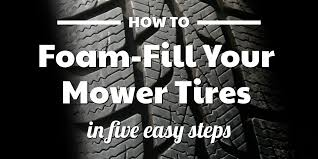 Can You Foam Fill Mower Tires Yes And Heres How