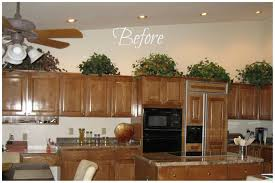 Decorating Kitchen Cabinets Tips For Decorating Above Kitchen Cabinets Amys Office Inexpensive