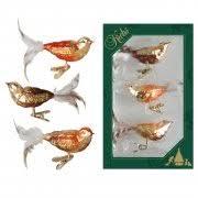 Vogel Set Herbst 11cm 3er Set Glas