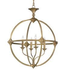Tech Lighting Palestra Currey Company 9346 Bellario 4 Light Chandelier With Antique Brass Finish