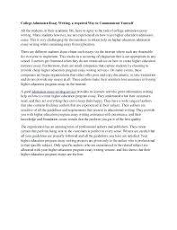 College Application Essay Examples Harvard Common App Example Essays