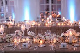 wedding table lighting. Beautiful Wedding Table Decorations With Lighting Of Some Candle And Flower Arrangements Which Will Provide A Romantic Atmosphere