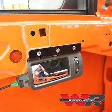 Interior car door handles Brushed Aluminum Our Youtube Mustang Road Race Interior Door Handle Mounting Bracket 200514