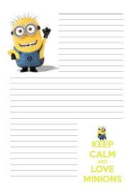 best writing paper images writing papers minion despicable me letter writing paper a4 a5 stationary penpal lined st9