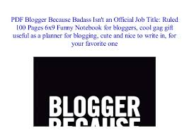 Cool Title Pages Read Blogger Because Badass Isnt An Official Job Title