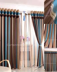 Striped Colorful Bedroom Sound-proof and Thermal heavy winter curtains