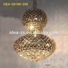 decoration crystal beaded led chandelier 6 light shaded