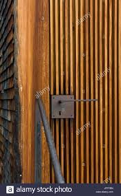 chapel at sogn benedetg by the swiss architect peter zumthor stock image