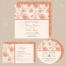 Announcement Cards Wedding Set Of Wedding Invitation Or Announcement Cards With Beautiful