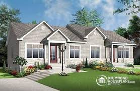 Ambrose 2 2 Bedroom Country Style Semi Detached House Plan With 2 Bathroom  Options