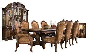 8 piece windsor court rectangular dining table set with china cabinet victorian dining sets by warehouse direct usa