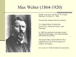 max weber weber was born in erfurt in thuringia on 1 max