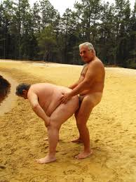 Fat old gay men fucking