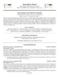 Math Teacher Resume New Sample Resume For Nursery Teachers In India Fruityidea Resume