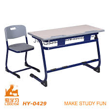 double seats material mdf school desk furniture