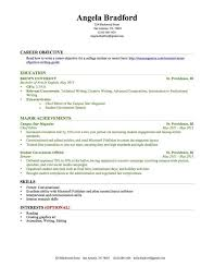 Resume Templates College Student Adorable Resume Template For College Student With No Work Experience Resume