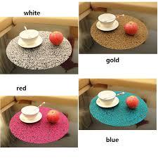 38cm circle coasters transpa crystal pad slip resistant plastic table tryer