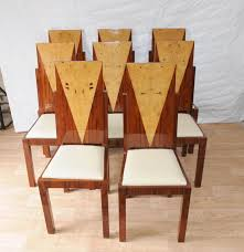 art deco furniture 1920s. art deco furniture photo of 8 dining chairs inlay diners 1920s vintage o