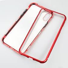 Metal-rimmed Mobile Phone Case Hardened Glass <b>Magnetic</b> ...