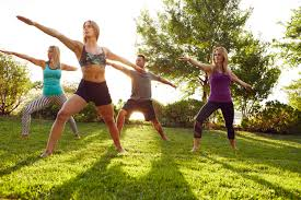 Outdoor workout fun for adults