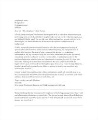 Cover Letter School Administrator Cover Letter For School Administrator Barca Fontanacountryinn Com