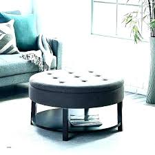 small round ottoman coffee table circle storage gray with tray