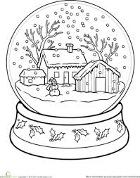 Snow Globe Worksheet
