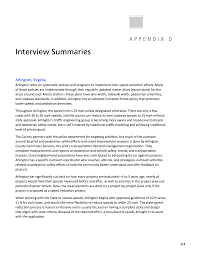 Process Design In Services Has Traditionally Focused On The Appendix D Interview Summaries Pedestrian Safety