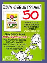 Suchergebnis Auf Amazonde Für Geburtstagskarte 50 Lustig