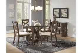 jofran hampton road 5 piece round dining table set in natural