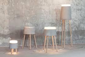 concrete table lamp. Concrete Floor Lamp From Renate Vos Table