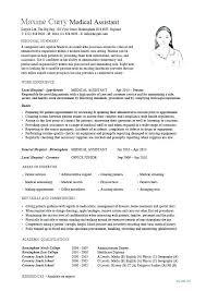 Medical Receptionist Resume Airexpresscarrier Com