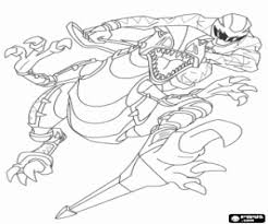 Small Picture Power Ranger and robot dinosaur coloring page printable game