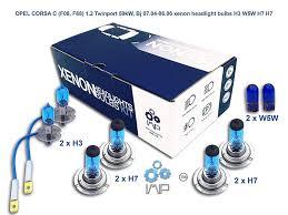 Bright Xenon Headlight Bulbs Diy Easy Fit Kit Pairs H3 H7 H7 Plus Free Side Light Bulbs W5w